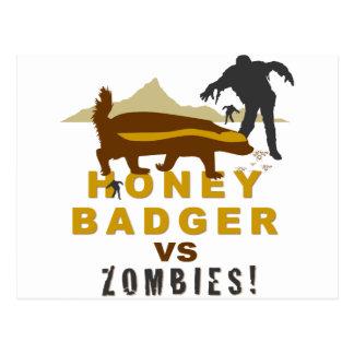 tejón de miel contra zombis postal
