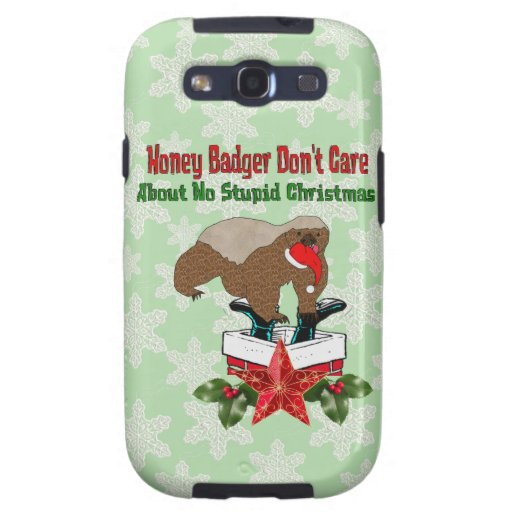 Tejón de miel del Anti-Navidad Galaxy S3 Protectores