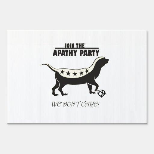 Tejón de miel del fiesta de la apatía señal