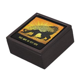 Tejón de miel del resplandor solar cajas de recuerdo de calidad