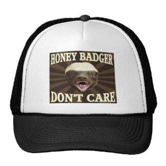 Tejón de miel gorras de camionero