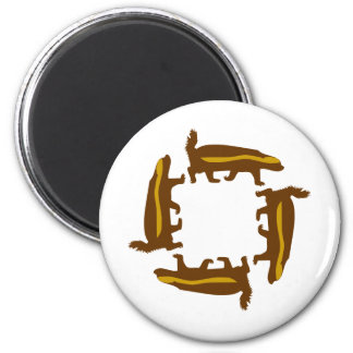 tejón de miel imán redondo 5 cm
