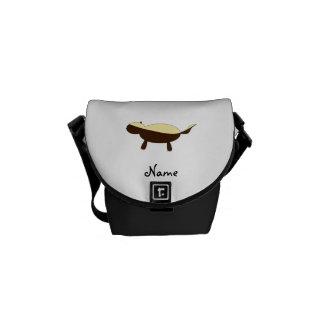 Tejón de miel lindo conocido personalizado bolsa de mensajeria