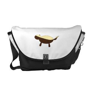 Tejón de miel lindo conocido personalizado bolsa de mensajería