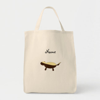 Tejón de miel lindo conocido personalizado bolsa tela para la compra