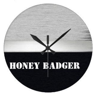 Tejón de miel reloj redondo grande