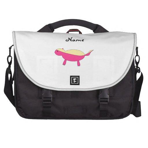 Tejón de miel rosado conocido personalizado bolsas de portatil