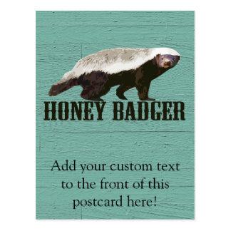 Tejón de miel rústico fresco tarjeta postal