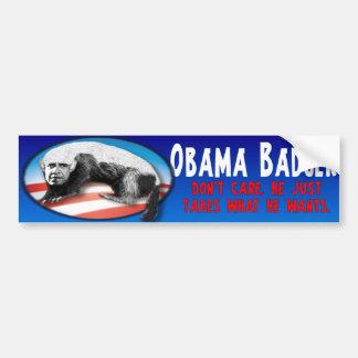Tejón de Obama - apenas toma lo que él quiere Pegatina Para Auto