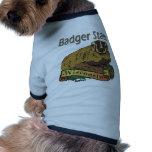Tejón del estado del tejón de Wisconsin Camisa De Perrito