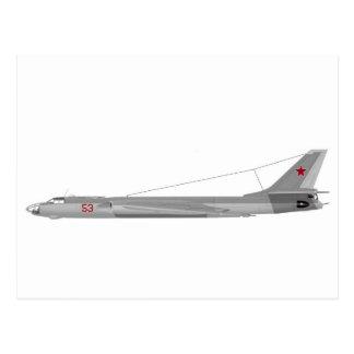 Tejón del Tupolev Tu-16 Tarjeta Postal