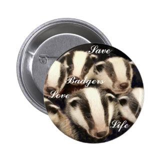 Tejón lindo Cubs Pin Redondo De 2 Pulgadas