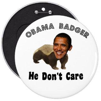 Tejón Obama de Obama político Pin Redondo 15 Cm