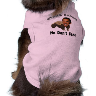 Tejón Obama de Obama político Playera Sin Mangas Para Perro