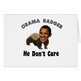 Tejón Obama de Obama político Felicitacion