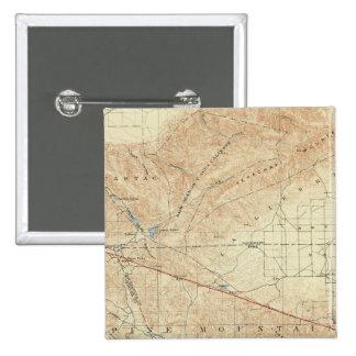 Tejon quadrangle showing San Andreas Rift 2 Inch Square Button