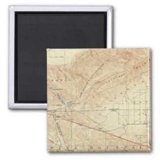 Tejon quadrangle showing San Andreas Rift 2 Inch Square Magnet