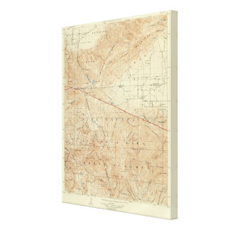 Tejon quadrangle showing San Andreas Rift Canvas Print