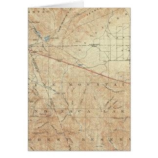 Tejon quadrangle showing San Andreas Rift Card