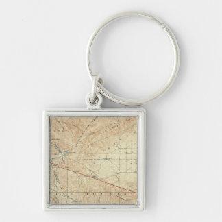 Tejon quadrangle showing San Andreas Rift Keychain