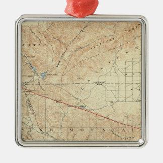 Tejon quadrangle showing San Andreas Rift Metal Ornament