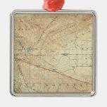 Tejon quadrangle showing San Andreas Rift Christmas Tree Ornament