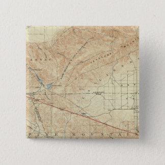 Tejon quadrangle showing San Andreas Rift Pinback Button