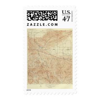 Tejon quadrangle showing San Andreas Rift Postage