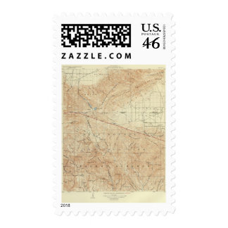 Tejon quadrangle showing San Andreas Rift Postage Stamps