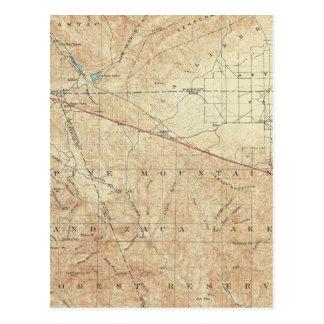 Tejon quadrangle showing San Andreas Rift Postcard