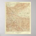 Tejon quadrangle showing San Andreas Rift Print