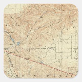 Tejon quadrangle showing San Andreas Rift Square Sticker