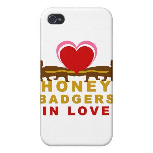 Tejones de miel en amor iPhone 4/4S fundas