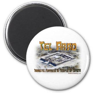 Tel Arad aerial view 2 Inch Round Magnet