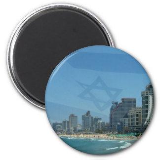 Tel Aviv 2 Inch Round Magnet