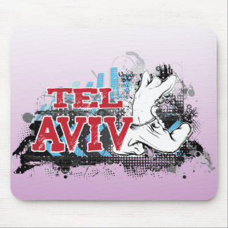 TEL AVIV - A grunge style of Israel's #1 City Mouse Pad