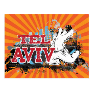 TEL AVIV - A grunge style of Israel's #1 City Postcard