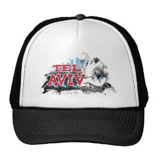 TEL AVIV - A grunge style of Israel's #1 City Trucker Hat