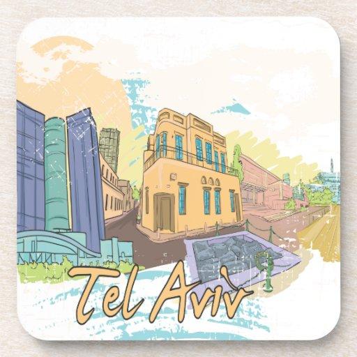 Tel Aviv Drink Coasters