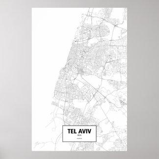 Tel Aviv, Israel (black on white) Posters
