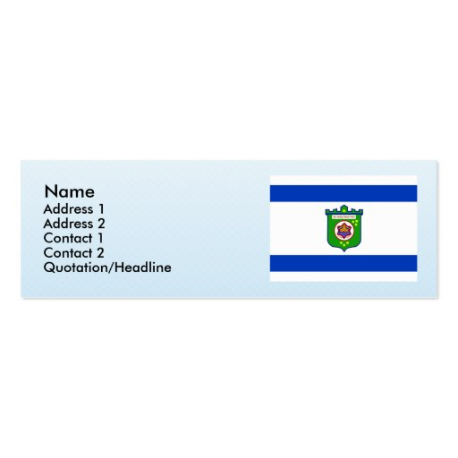 Tel Aviv, Israel Business Card Template