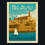 "Tel Aviv, Israel Postcard<br><div class=""desc"">Anderson Design Group is an award-winning illustration and design firm in Nashville,  Tennessee. Founder Joel Anderson directs a team of talented artists to create original poster art that looks like classic vintage advertising prints from the 1920s to the 1960s.</div>"