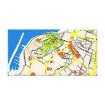 Tel Aviv Jaffa map design Canvas Stretched Canvas Print