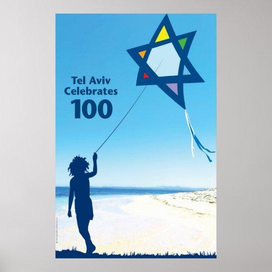 tel aviv kite 100 poster