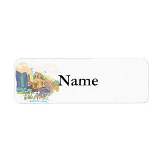 Tel Aviv Custom Return Address Label