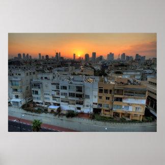Tel Aviv Sunrise Art Photo Poster