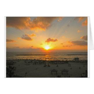 Tel Aviv Sunset Card