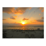 Tel Aviv Sunset Postcard