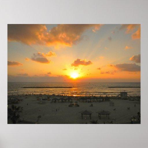 Tel Aviv Sunset Posters