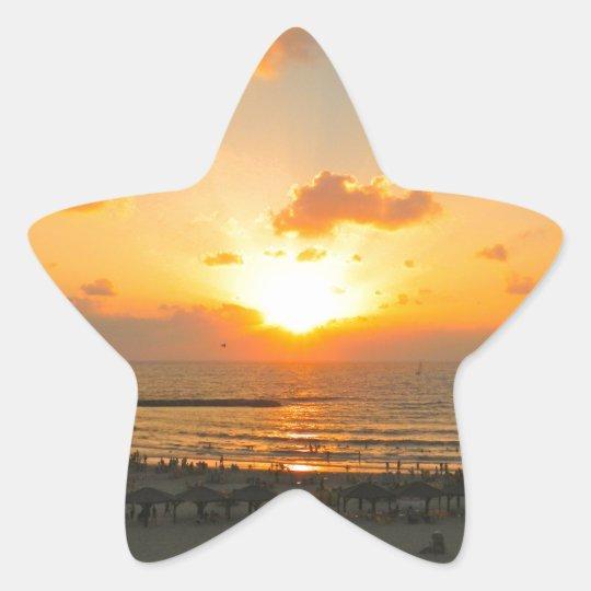 Tel Aviv Sunset Star Sticker